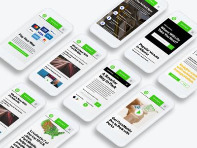 ParkMobile Website Design Mobile