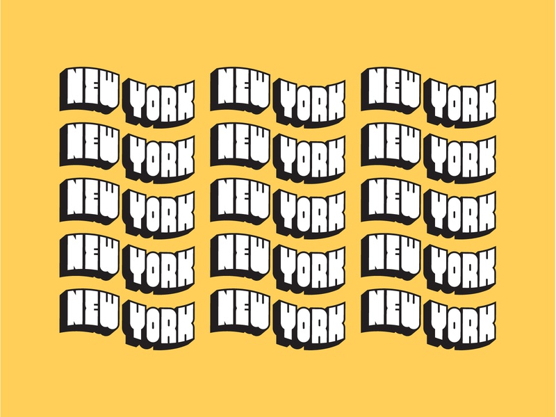 A Post Card for NYC, Alt postcard new york city new york nyc minimal illustration simple digital branding logomark vector blue icon typography