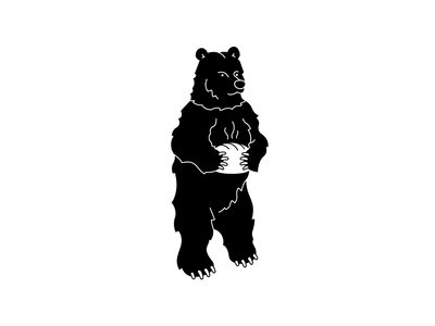 Black Bear Atlanta - Logo Progression bread georgia blackbear bear vector logomark branding atlanta logo digital design simple illustration minimal logos