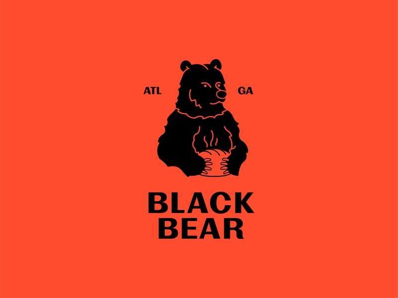 Black Bear Bread Boi bakery baker bread grizzly blackbear bear marketing georgia typography icon vector logomark branding atlanta digital design simple illustration minimal