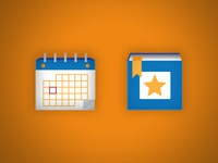 Calendar/Bookmark Icons