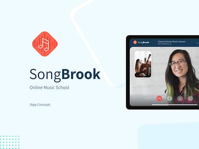 SongBrook (App Concept) app app concept product design video school music school music app online