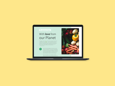 Locally Source Food love our planet ui eco-friendly locally source food design product design app concept