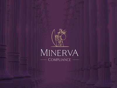 Logo Development compliance logo concept brand development minerva inspired greek design branding logo graphic design