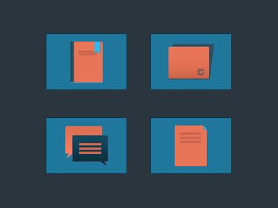 EDU Icon Set icon book publishers poprietary interactive open clean set minimal simple
