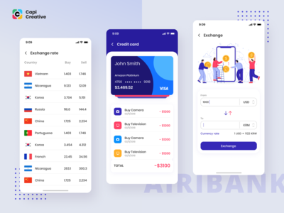AiriBank – Banking, Finance & Crypto Wallet App UI KIT