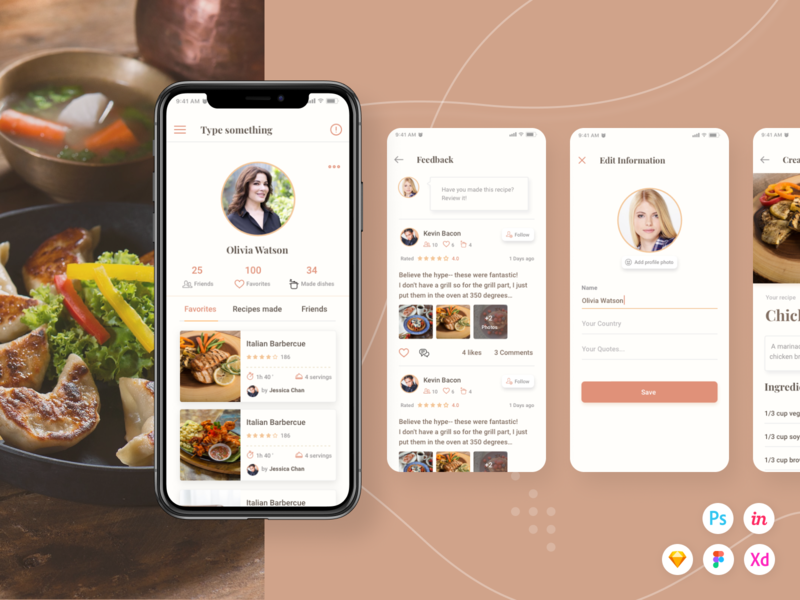 Caco Cooking UI Kit (Part 4) cook psd cook xd cook sketch guide cook guide cooking guide cooking ui kit cooking ui cooking cook