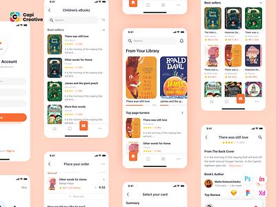 Lith - E-book store & E-reader App UI Kit kit app design mobile app ui ios figma mobile creative design ui kit