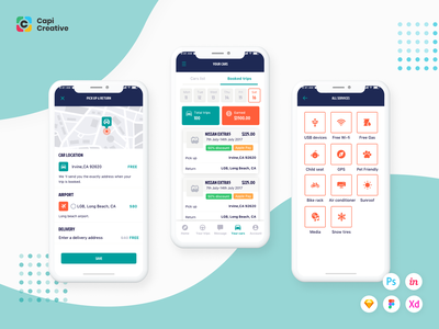 Rocky App UI Kit mobile app ui design kit ios app design figma ui creative design ui kit