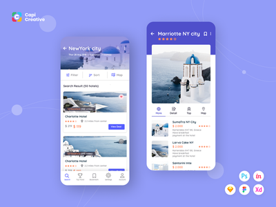 CaHotel UI Kit ios uidesign hotels hotelbooking kit app app design mobile ui creative design ui kit