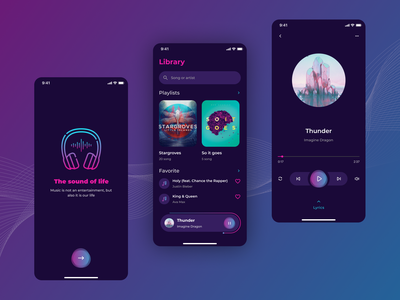 Music Player Mobile App Concept player music music player music app kit creative ux ui designer ui kits ios app design app mobile ui  ux ui kit design ux design ui design ux ui design ux ui