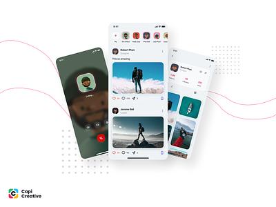 Social Media UI Kit social network social media social design creative app ios kit ui kit mobile app design mobile design mobile ui mobile app mobile ux ui design ux ui ux design ui design ui ux