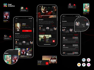 Movie and TV Show App UI Kit tv app tv show movie app movies app movies movie ux ui workflow ux ui design ux  ui ui design ux design ux ui mobile app design mobile design mobile app mobile mobile ui app app design