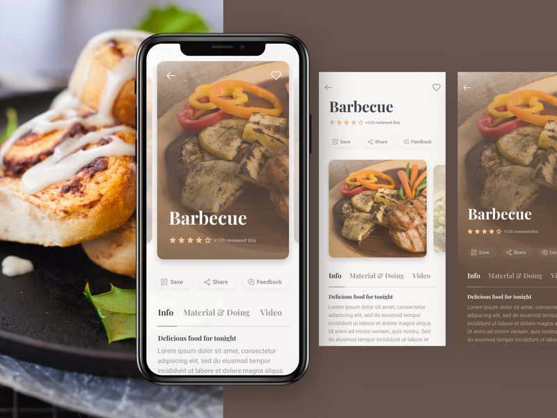 Cacook - Inspired for Cooking and Food cook book cooking app food app restaurant app food cooking illustration typography home ios iphone x hoangbin iot ux app ui kit ui design kit mobile