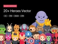 Marvel Heroes Vector