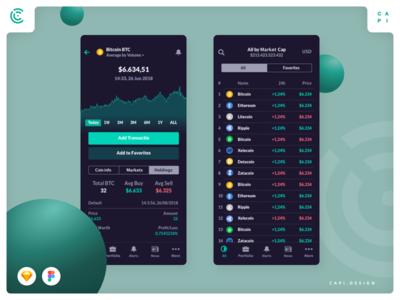Cacoin - Crypto Market UI Kit