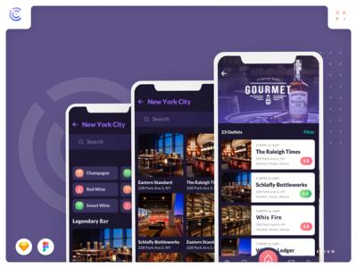 Cabar - Bar & Restaurant Application UI Kit