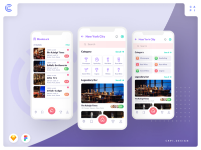 Cabar - Bar & Restaurant Application UI Kit