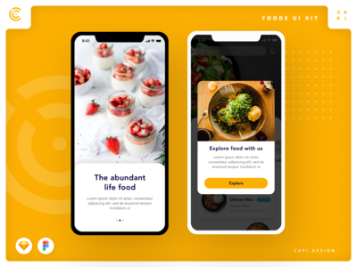 Foode - Food Order Mobile App UI Kit
