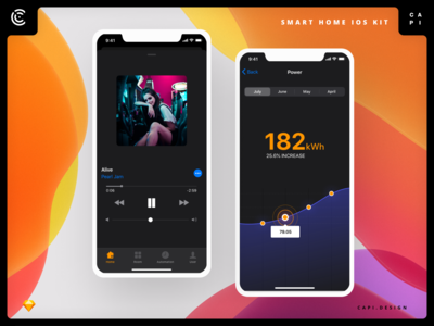 DEEP – Smart Home for iOS 13 UI Kit