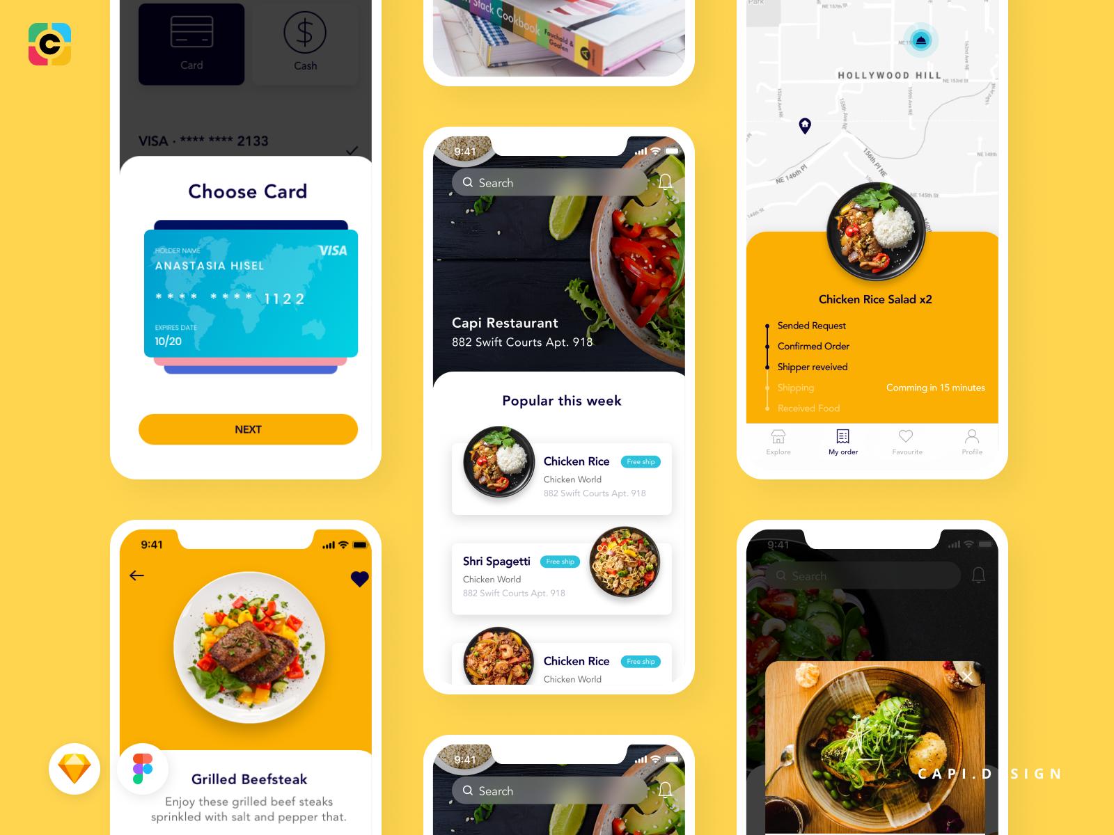 Foode - Food Order Mobile App UI Kit by Capi Creative Design