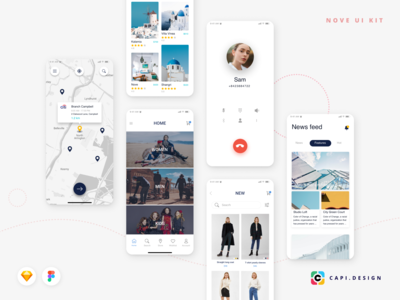 Nove Mobile UI Kit Design [Sale Off]