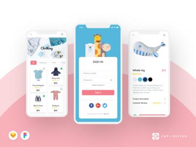 Moby E-commerce Mobile App UI Kit