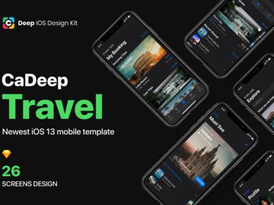 CaDeep Travel Mobile App UI kit
