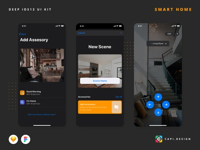 DEEP – Smart Home UI Kit iOS 13