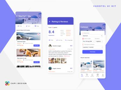 CaHotel Hotel Booking App UI Kit