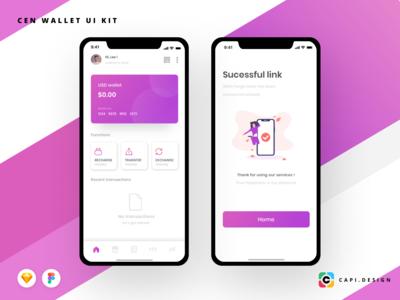 Cen Wallet Mobile App UI Kit