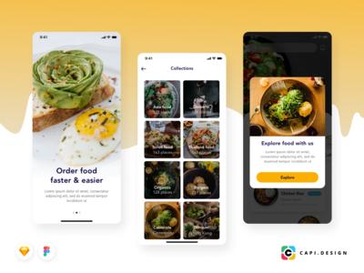 Foode - Food Order Mobile App UI Kit Free Version