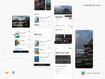 LITOUR Travel Booking App UI Kit