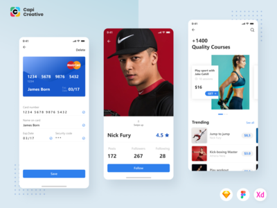Beside Fitness Mobile App UI Kit