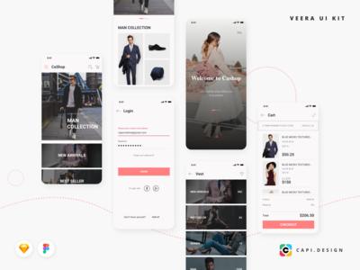 Veera E-commerce Mobile App UI Kit
