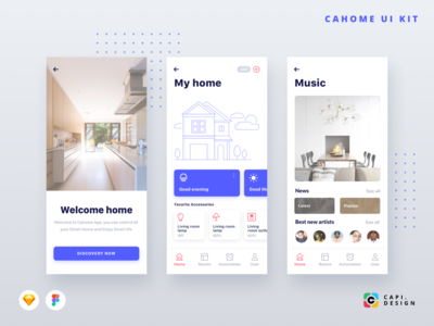 CaHome Smart Home App UI Kit
