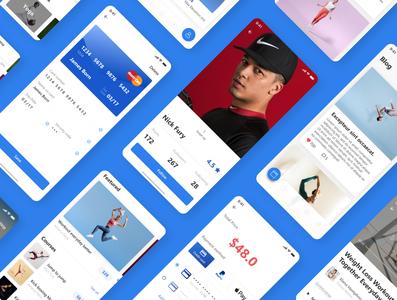 Beside Fitness App UI Kit Design