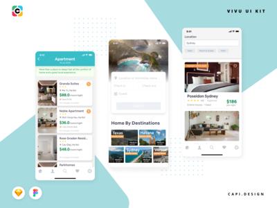 Vivu Hotel Booking App UI Kit