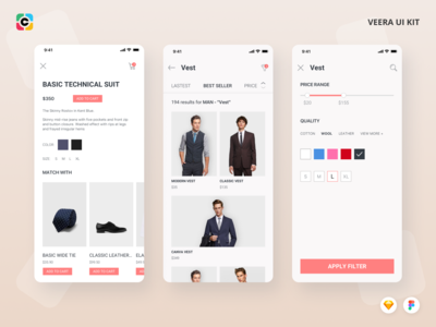 Veera E-commerce App UI Kit