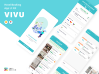 Vivu Hotel Booking App UI Kit