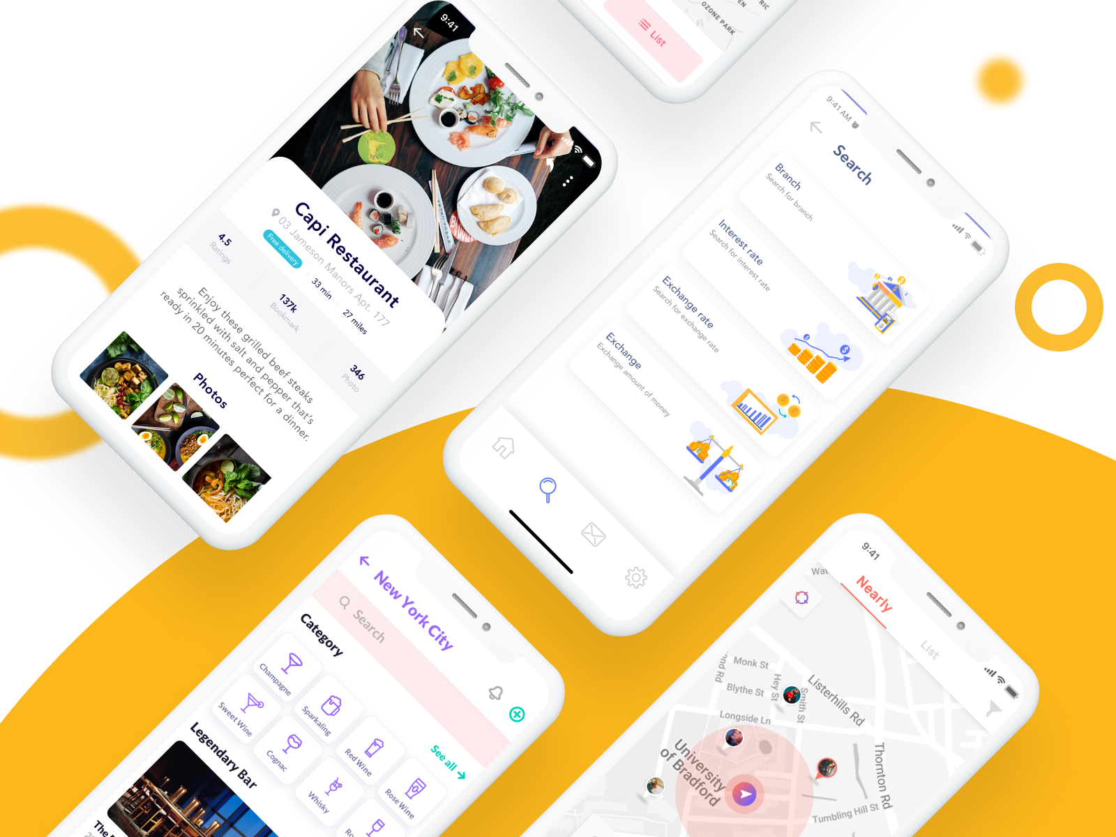 MOO - 4 App Design Categories In 1 UI Kit by Capi Creative for ...