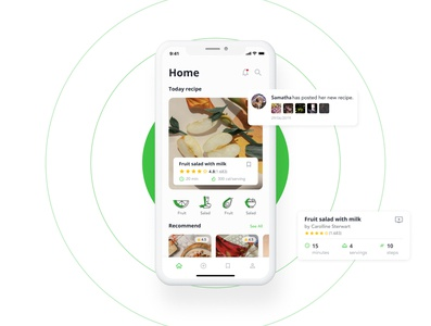 Food Collection - HaCOOK Recipe Manager App UI Kit