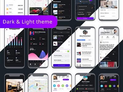 Multi Categories UI Kit - Emils mobile app app design multipurpose uiux ui design ecommerce creative app mobile design ui kit