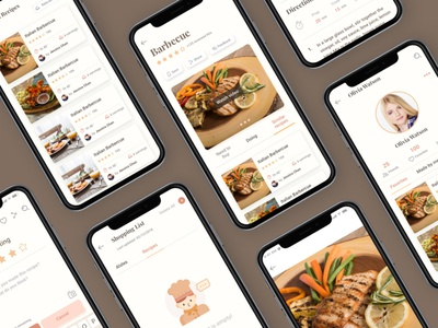 Beautiful Screens in CaCo Cooking UI Kit ui design ui ux app design mobile app creative app mobile design ui kit