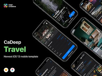 CaDeep Travel UI Kit Screens ios capi app creative ui  ux app design mobile app design ui kit ui design