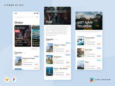 Litour Screens in Travel Collection creative ui design uiux mobile app design app design mobile app ui kit