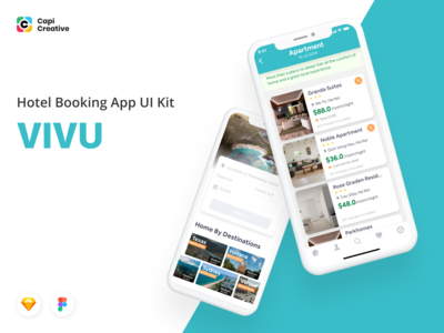 Travel Collection - Vivu Hotel Booking App UI Kit