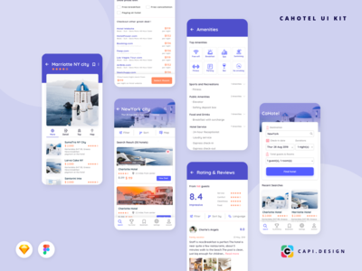 Hotel Booking App Screens in Travel Collection
