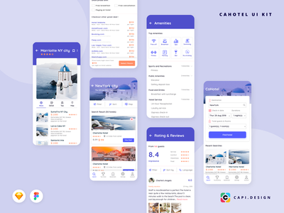 Hotel Booking App Screens in Travel Collection app designer vietnam clean creative ui ux ui design top ui ux desiner vietnam ui designer ui designer