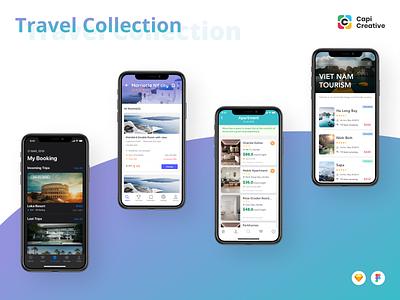 Travel Collection from Capi Creative Agency top vietnam ui design app design ui design ui ux mobile app creative agency creative ios app design ios app ios13